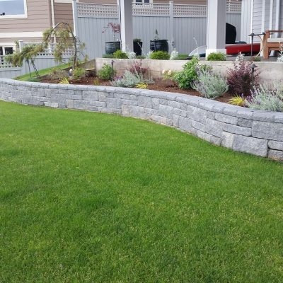 Garden and Retaining Wall
